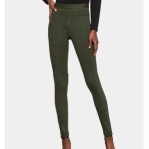 BCBG MAX AZRIA olive back zipper sexy leggings XS